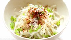 This simple 10 minute Korean bean sprout salad is fresh, crunchy, and addicting. Toss them into a stir fry, enjoy it as a side dish, mix into a salad, or eat it as is. No matter how you eat it, you'll love it! Guaranteed.  www.kimchichick.com