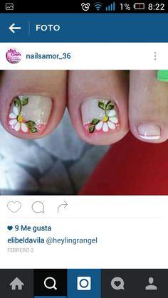 Uñas Cute Pedicures, Gel Toes, Pedicure Nail Art, French Nails, Pretty Nails, Nail Designs, Prince, Tattoos, Pretty Pedicures