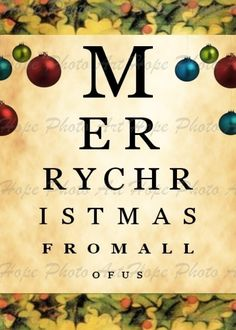 Eye Chart Christmas DIY Printable