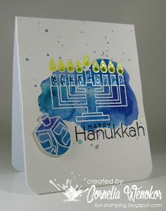 Paper Smooches - Kibitzing Two clear stamps SES 254.  Stempel Spass: Hanukkah