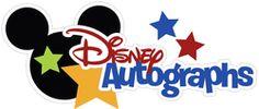 Disney Autographs Cutouts