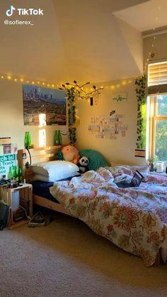 Room Design Bedroom, Room Ideas Bedroom, Home Room Design, Cute Bedroom Ideas, Girls Bedroom, Bedroom Decor, Bedrooms, Chambre Indie, Indie Bedroom
