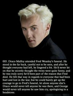 Draco Malfoy <3 oh how I hope this is true...