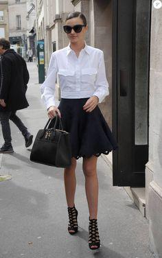 Miranda Kerr à Paris, le 7 octobre 2015.