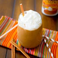 A SKINNY version of the Starbucks Pumpkin Frappuccinos. From 630 calories to less than 100.