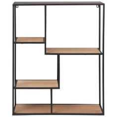 Black Metal Shelving Unit on Maisons du Monde. Take your pick from our furniture and accessories and be inspired! Black Metal Shelf, Trending Decor, Black Metal, Metal Homes, Metal Furniture, Shelving, Metal Shelving Units, Bookshelf Design, Metal Shelves
