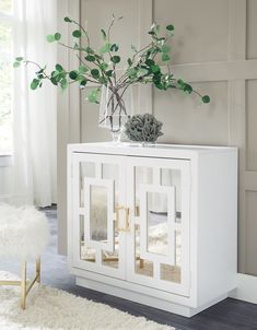Signature Design by Ashley Walentin Accent Cabinet - JCPenney Mirrored Furniture, Furniture Logo, City Furniture, Online Furniture, Accent Furniture, Cheap Furniture, Furniture Decor, Accent Chests And Cabinets, Ashley Furniture Industries