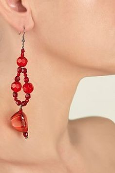 Vahine Fire Fire, Drop Earrings, My Style, Red, Accessories, Collection, Jewelry, Fashion, Jewels