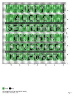 Frog calendar 3/5