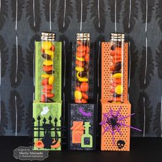 Halloween Test Tube Caddies by Shelly Mercado #EatsandTreats, TEMatched, #Halloween, #GiftGiving, #LittleBitsDies, #TE, #ShareJoy