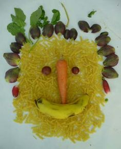 portraits avec des aliments à la manière d'Arcimboldo