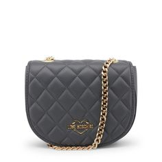 Love Moschino - JC4017PP15LB Grey Clutch Bags, Saddle Bags, Moschino, Dust Bag, Shoulder Strap, Chanel, Leather, Women