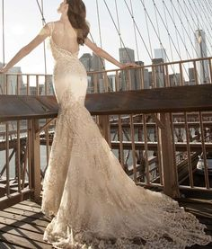 Sophisticated wedding dress #wedding #weddings #fashion: