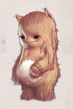 Original Illustrations by Sergio Diaz (looks like a wookie from starwars!!!)