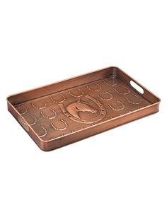 Horseshoe copper tray.