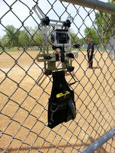 Mount A Phone To The Fence For Recording Baseball And