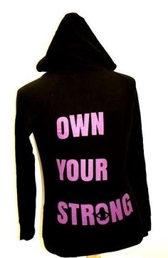 Mudderella Running Women'S Athletic Gear Black Zip Hoodie Own Your Strong T27