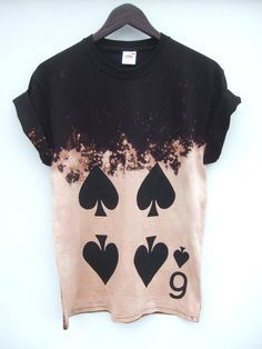 6 Pik Acid Wash Hemd 2 Wochen vorbestellen von tappingtonandwish - Another! Gebleichte Shirts, Blusas T Shirts, Bleach Shirts, Cool Shirts, Cool Tees, Punk Outfits, Grunge Outfits, Cool Outfits, Grunge Dress