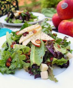 Summer Salad with Roasted Envy Apple Vinaigrette by onlinepastrychef, via Flickr