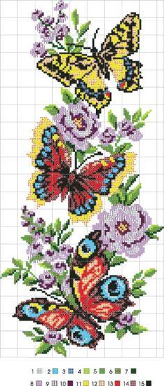Cross stitch butterflies and c