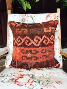 This beautiful Kilim cushion cover is ideal for all living spaces, indoor and out. With its natural vegetables dyes, the colours will go through a unique ageing process, giving the cushion subtlety over time. The kilim itself is made from pure hand spun sheep wool and the backing is 100% cotton. It has a sturdy zipper which means you wont have to worry about any ripping. If youre interested in a few, please dont hesitate to negotiate 😊