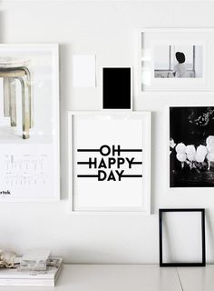 Oh happy day happy day print happy day poster wall by ColourMoon