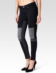 Paige skinny jeans dark room color block 25 This is a pair of Paige jeans skinny jeans. They are the dark room style color block in black and grey. Never been worn or washed. Paige Denim, Jet Set, Fashion Room, Fashion Tips, Fashion Design, Fashion Trends, Mid Rise Skinny Jeans, Sexy Outfits, Black And Grey