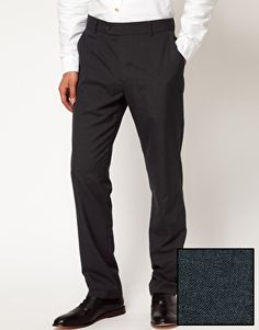 ASOS Slim Fit Smart Trousers in Charcoal