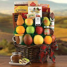 Four Seasons Fruit Gift Basket >>> Amazon most trusted e-retailer #GourmetFruits