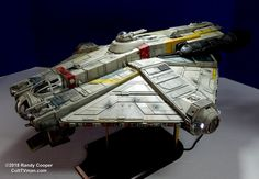 """I thought I'd share my latest model. This model is called The """"Ghost"""". It's from """"Star Wars Rebels"""". it's scale long). Spaceship Design, Spaceship Concept, The Ghost Star Wars, Maquette Star Wars, Nave Star Wars, Star Wars Spaceships, Star Wars Vehicles, Star Wars Models, Model Maker"""