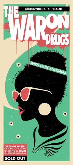 The War On Drugs Concert Poster on Behance
