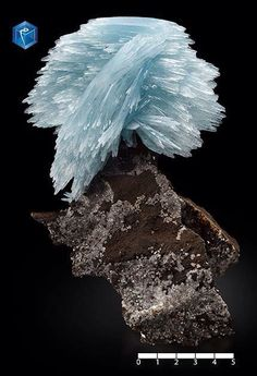 Blue Barite from Morocco (specimen from Mim Museum)