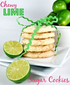 Chewy Coconut-Lime Sugar Cookies the perfect Spring Cookie!