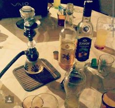 #hookah #smoke #alcohol #tequila #savoy #drunk #drink #summer #night #friends