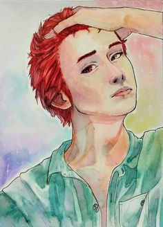 Akashi Seijuro watercolor painting ✂
