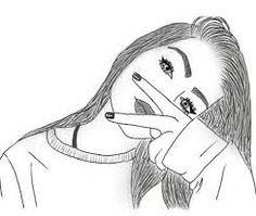 Risultati immagini per tumblr outlines drawing