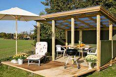 Hele sommeren er dette en terrasse – men til vinteren forvandles den til oppbevaringsrom og redskapsbod. Her kan du se…