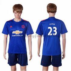 Fodboldtrøjer Premier League Manchester United 2016-17 Shaw 23 Udebanetrøje