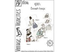 1930's Beach bags PDF sewing pattern [VSV 36014]