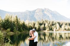 St. Louis Wedding Photography / Missouri Wedding Photography / Mountains Engagement / Snoqualmie Pass / Gold Creek Pond