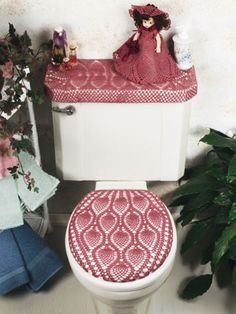 Free Crochet Patterns Crochet A Toilet Seat Lid Cover