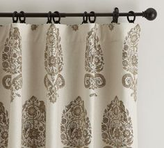 Paint your walls Bleeker Beige to coordinate with this drapery - Pottery Barn