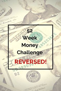 I have always wanted to do the 52 week challenge but one thing bothered me about it. I don't like how the amount to be deposited increases. See why I chose to do the challenge in reverse plus get your  FREE printable chart.