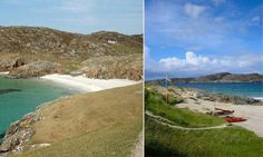 Achmelvich, Lochinver on one favourite beaches and it is in Scotland. Uk Beaches, Open Water, Beach Fun, Beautiful Beaches, About Uk, Caribbean, Scotland, Ireland, Golf Courses