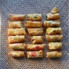 Loempiavellen Spanakopita, Fondue, Food Dishes, Tapas, Snacks, Pork, Veggies, Asian, Meat