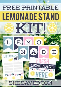 If your kiddos are looking to take on an entrepreneurial adventure this summer then my Free Lemonade Stand Printable Kit will be a big hit!