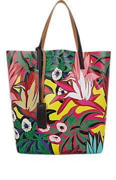 b86707d702b7 Floral Lemmon Collage Tote Bag Printed Bags