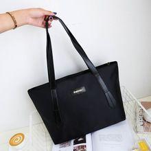 Fashion Ženy Kabelky Solid Color Shoulder Vodotěsný Nylon kabelky knedlíky  Žena Travel Tote Bag Folding Tote 66ddffc643d