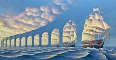 it's amazing how those clouds turn into sails and ultimately sail boats.