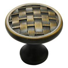 allen   roth Aged Brass Round Cabinet Knob